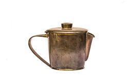 Старый латунный чайник Стоковые Фотографии RF