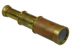 Старый латунный spyglass Стоковое фото RF