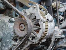Старый альтернатор автомобиля стоковая фотография rf