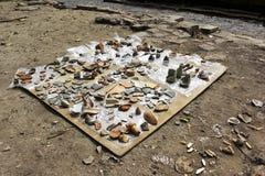 Старый бак найденный в месте археологии Стоковое Фото