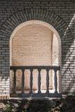 Старый балкон здания Стоковая Фотография