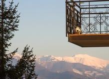 Старый балкон с шариком Стоковая Фотография RF