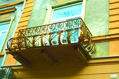 Старый балкон, штукатурка Стоковые Изображения