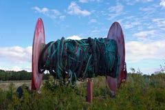 Старый барабанчик веревочки Стоковые Изображения