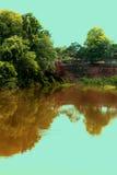 Старый бассейн с стеной стоковое фото rf