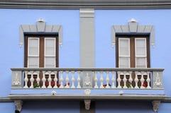 Старый балкон в Ла Laguna, Тенерифе, Испании Стоковое Изображение RF