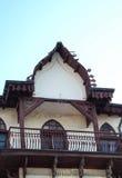 Старый балкон в Bitola, македонии Стоковые Изображения