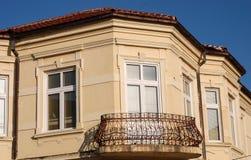 Старый балкон в Bitola, македонии Стоковое Фото