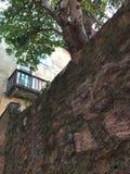 Старый балкон городка Стоковое Фото