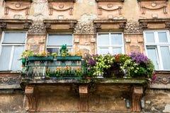 Старый балкон Стоковые Изображения RF