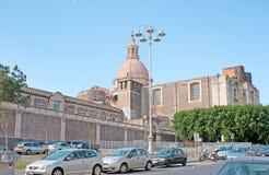Старый бенедиктинский монастырь Катании Стоковое Изображение RF