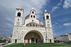 Старый белый каменный собор Стоковое фото RF