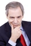Старый бизнесмен Стоковая Фотография