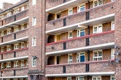 Старый блок совету в Bermondsey, Лондоне Стоковые Фото