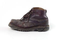 Старый ботинок армии Стоковые Фото