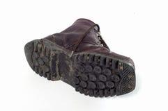 Старый ботинок армии иллюстрация вектора