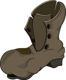 Старый ботинок Стоковые Изображения