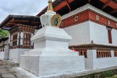 Старый буддийский монастырь в Тхимпху, Бутане стоковые фото