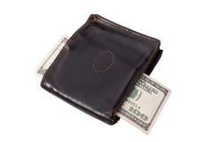 Старый бумажник и 100 самцов оленя Стоковые Изображения RF