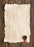 старый бумажный воск уплотнения стоковые фотографии rf