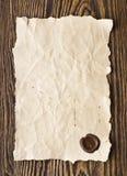 старый бумажный воск уплотнения стоковое фото
