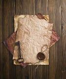 старый бумажный воск уплотнения Стоковое Изображение