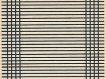 Старый бумажный лист пустой страницы с черной линией Стоковые Изображения RF