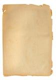 Старый бумажный лист стоковое изображение rf