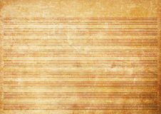 Старый бумажный лист нот grunge Стоковое Изображение