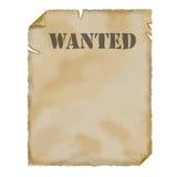 старый бумажный пергамент хотел Стоковое Фото