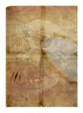 старый бумажный череп Стоковые Фото