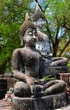 Старый Будда в виске Таиланда Стоковое Изображение
