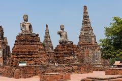 Старый Будда в виске Chaiwatthanaram Стоковые Фото