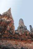 Старый Будда в виске Chaiwatthanaram Стоковое фото RF
