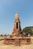 Старый Будда в виске Chaiwatthanaram Стоковое Изображение RF