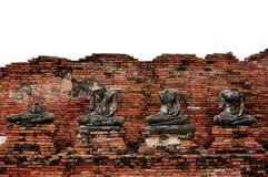 Старый Будда в Таиланде Стоковое Фото