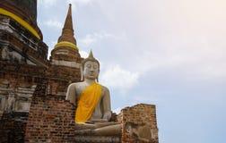 Старый Будда с длинной историей Стоковые Фото