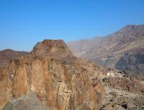 Старый буддийский утес высекая около Chilas, Пакистана Стоковые Изображения RF