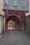 Старый бывший строб города в Франкфурте Hoechst Стоковые Изображения RF
