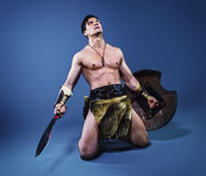Старый варвар ратника Стоковое фото RF