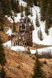 Старый вал серебряного рудника Стоковые Фотографии RF