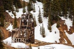 Старый вал серебряного рудника Стоковые Фото