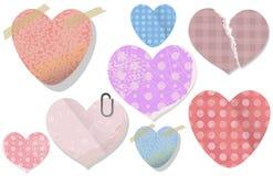 Старый вектор сердца стикера валентинки Стоковые Изображения