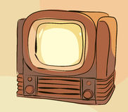 старый вектор tv комплекта Стоковые Изображения RF
