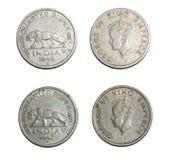 Старый великобританский король Император Индия Джордж VI монетки стоковое фото
