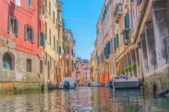 Старый венецианский канал Стоковая Фотография