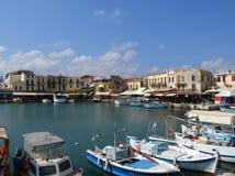 Старый венецианский порт, Rethymnon, Крит, Греция стоковое фото