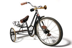 Старый велосипед в ретро стиле Стоковые Изображения