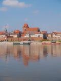 старый взгляд городка Польши torun Стоковые Изображения RF