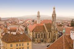 старый взгляд городка стоковые фотографии rf